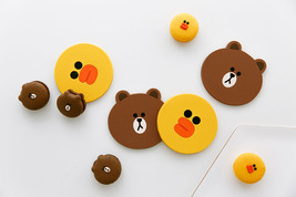 LINE FRIENDS Character Silicone Cup Coaster Season 2 BROWN SALLY Officia... - £14.87 GBP