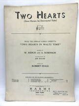 """Two hearts in waltz time german film"""" """"piano sheet music 1930 - $12.98"""