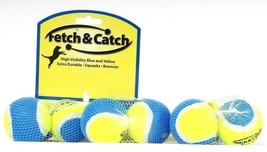 3 Packs Fetch & Catch High Visibility Blue & Yellow 3 Ct Squeaking Bounc... - $19.99