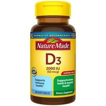 Nature Made Vitamin D3 2000 IU (50 mcg) Softgels, 100 Count for Bone Health.+ - $15.99