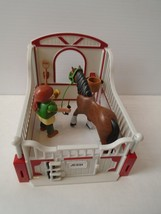 PLAYMOBIL Shire Horse w/ Groomer Rider & Stable - 5108 Ranch Farm Ship Fast - $19.99