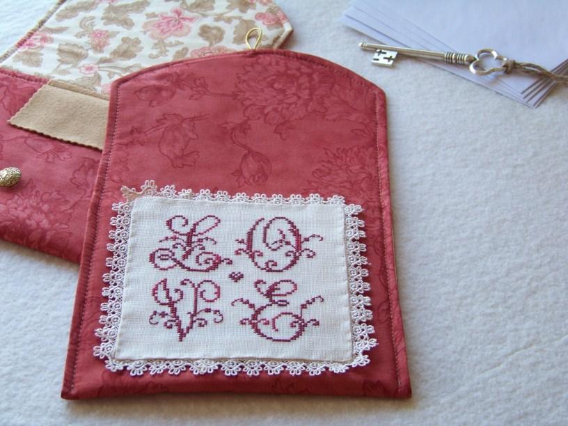 Love Letters Pocket pre-made pouch Impie Hattie & Bea