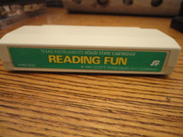 TI 99/4A Reading Fun tested educational game software cartridge Scott Fo... - $5.99
