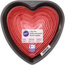 "Wilton Non-stick 9"" Heart Cake Pan Valentines Wedding Sweet 16 - $10.44"