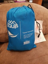 Equip Travel Hammock Blue Water Resistant 300 lb Capacity - $10.00
