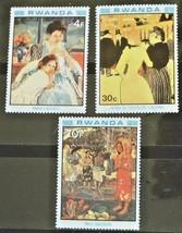 Rwanda Set of 3 Stamps MINT -Art Master Piece- MNH Free Shipping #700158 - $1.68