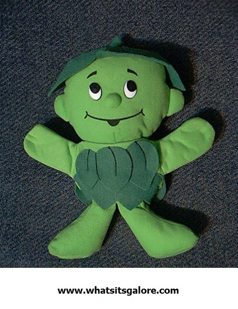 LITTLE GREEN SPROUT advertising collectibles PUPPET/JUMP ROPE jolly giant