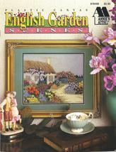 RARE~ANNIE'S~ENGLISH GARDEN SCENES~PLASTIC CANVAS - $19.99