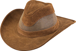 Henschel Cowhide Suede Seadream Cowboy Hat Mesh UPF 50+ Made In USA Tan... - $74.00