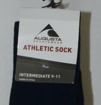 Augusta Sportswear Atheltic Sock Intermediate 9 To 11 Navy Blue 6026 image 2