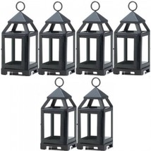 "Lot 6 BLACK 8.75"" Mini Lantern Small Candle Holder Wedding Centerpieces - $59.27"