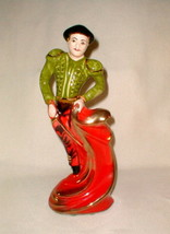 "Kitsch 1960's matador ceramic sculpture bull fighter beautiful 16 1/2"" rare - $130.00"