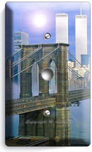 Nyc New York City Brooklyn Bridge Twin Towers Light Dimmer Cable Plate Art Decor - $10.79
