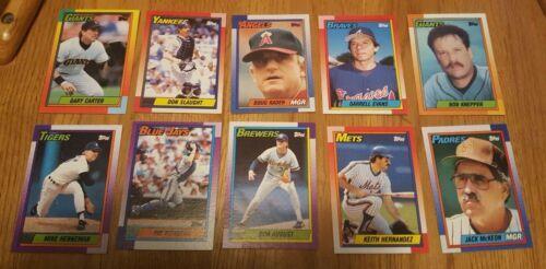 Topps 1990 Baseball Cards LotOf 54 Cards