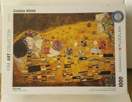 The Kiss by Gustav Klimt 1000 Piece Jigsaw Puzzle. New and Sealed. - $19.00