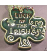 Luck of the Irish Shamrock Irish St.Patrick's Ornament - $6.99