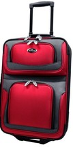 """US Traveler Red New Yorker 21"""" Carry-on Lightweight Rolling Luggage Suit... - $41.57"""