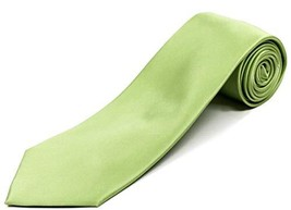 """Extra Long Tie for Big and Tall Men – 100% Silk – Solid Lime Green – 63"""" XL - $48.33"""