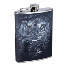 Monster Attack Alien Em1 Flask 8oz Stainless Steel Hip Drinking Whiskey - $13.81