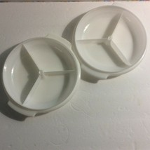 Tupperware Suzette Party Serving Divided Trays Only Lot 2 White 608 Vtg - $5.89