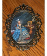 Vintage Victorian Brass Framed Picture Of Woman - $19.00