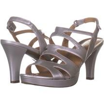 naturalizer Pressley Platform Strappy Dress Sandals 331, Soft Silver, 8.... - $23.99