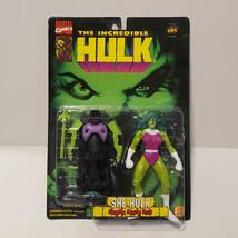 Vintage ToyBiz She-Hulk Action Figure Marvel Comics Incredible Hulk MOC - $19.80
