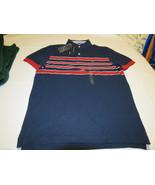 Men's Tommy Hilfiger Polo shirt stripe logo 7868242 Navy Blazer 416 L NWT - $31.03