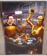 Star Wars C3PO vs Star Trek Data Glossy Art Pri... - $24.99