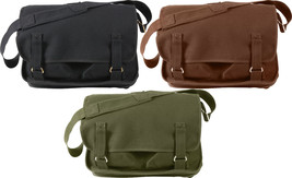 Heavy Duty Canvas European School Messenger Satchel Shoulder Bag - $36.31 CAD