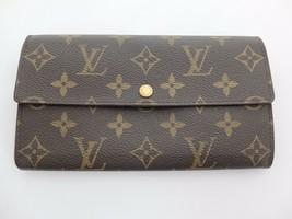 2fbd2159b55e Authentic Louis Vuitton Monogram Portefeiulle Sarah Long Bi-fold Wallet -   180.49