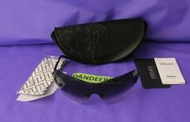 Versace Designer Black Gradient Lens Sunglasses Gem Embellished With Case COA  - $163.34
