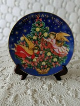 Avon Trimming The Tree Collectors Plate Porcelain 1995 22K Gold Trim - $14.54