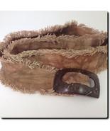 Handmade Judy Diaz Brown Fabric Belt from Columbia accessory 40 X 2.5 - $19.27