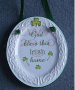 God bless Irish Home Celtic Knot Sign Oval Plate - $6.99