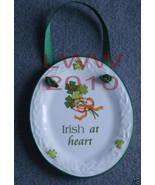 Irish at Heart Celtic Knot Sign Oval Plaque Plate NEW  - $6.99