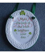 Irish Blessing Celtic Knot Sign Oval Plaque Plate Luck - $6.99