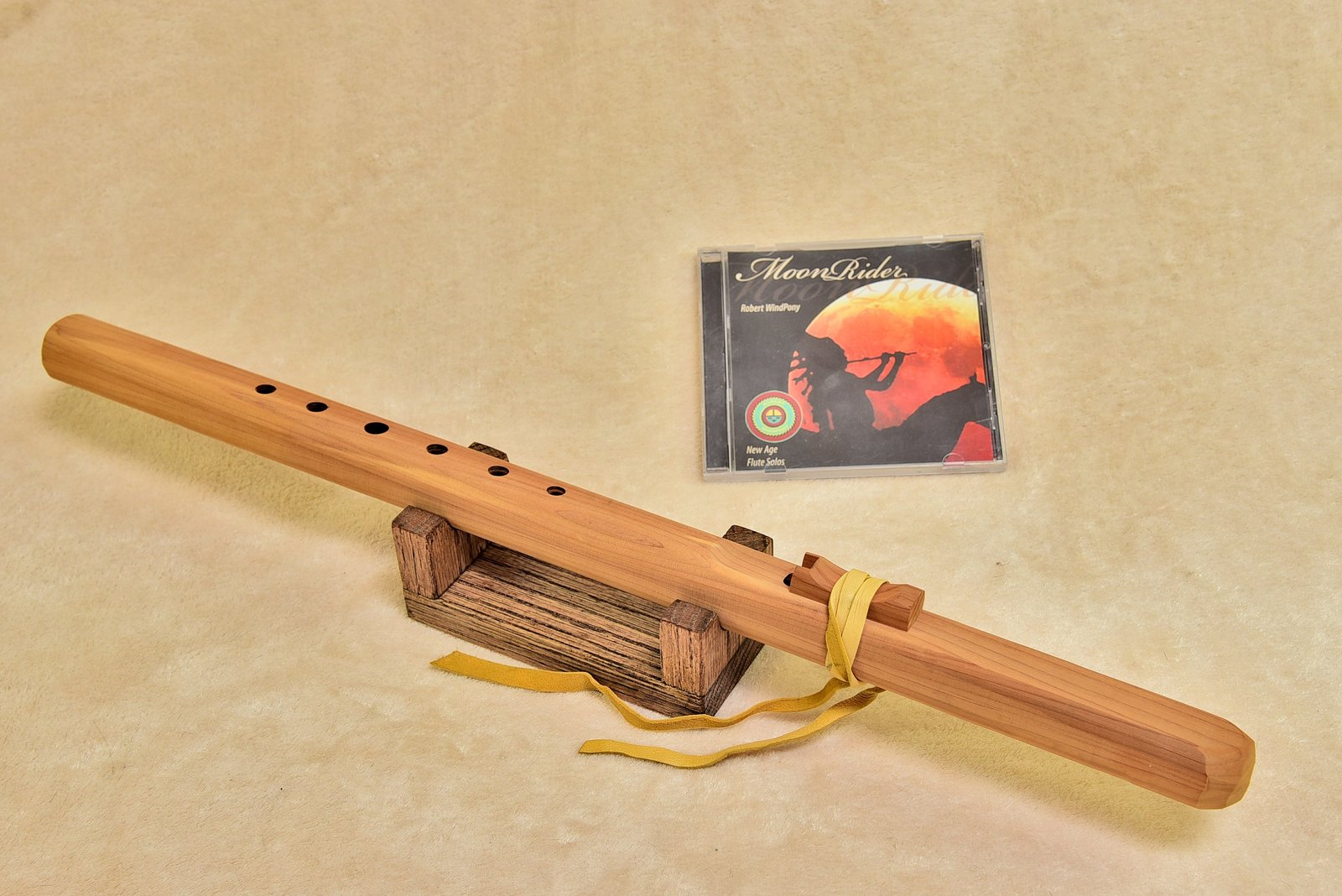 Windpony Unfinished Cedar Flute in the Key of F# + FREE Flute CD