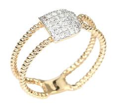 0.29 Ct Diamond Pave Designer Ring in 18K Rose Gold - $742.49