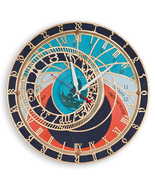Prague Astronomical Wall Clock | Handcrafted Large wooden Home Decor  - €85,52 EUR