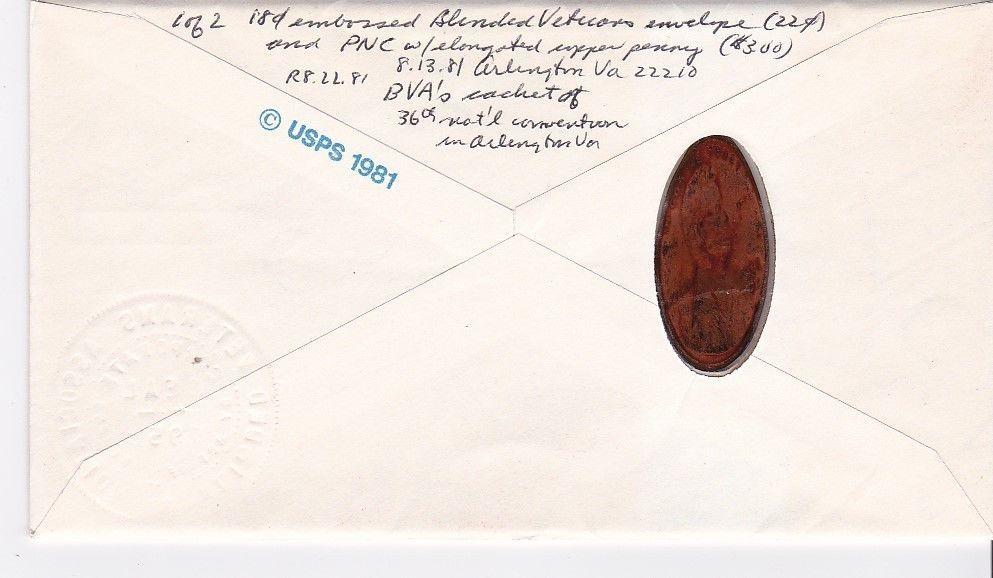 BLINDED VETERAN #U600 ARLINGTON, VA 8/13/1981 BLINDED VETERANS ASSOCIATION