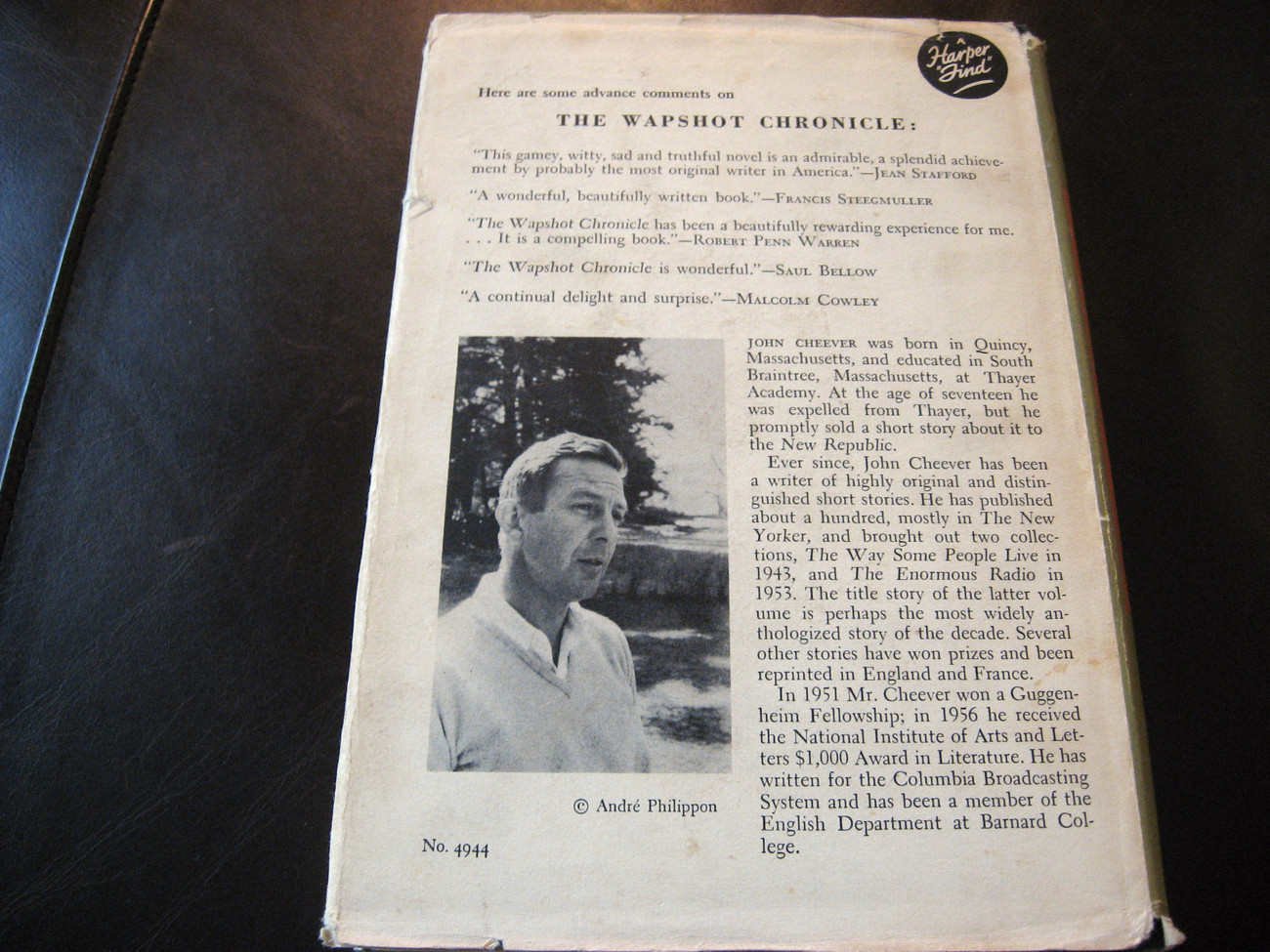 THE WAPSHOT CHRONICLE by JOHN CHEEVER ~~ 1957 Hardcover & Dust Jacket ~~