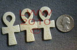 Three Bone Ankh Talisman Necklace Pendant Charms- New  - $4.49