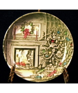 "Merry Christmas Dish 4⅛"" Johnson (6 avail) Friendly Village Plate Tree C... - $14.95"
