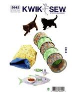 Kwik Sew 3642 Cat Tunnel Snuggle Sack Placemat & Fish Bird Toys Pattern - $16.99