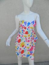 ASOS Dress Multi-Color Strapless Cocktail Party Dress Size 10 - $37.15