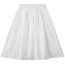 Blue Green A-Line Knee Length Ruffle Skirt Taffeta High Waist Pleated Skirt NWT image 3