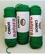 3 Skeins Caron Natura Yarn Kelly Green No Dye Lot Yarn 9 oz Total 4 Ply ... - $14.84
