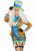 Leg Avenue Sombrerero Loco Alice IN Wonderland Adulto Mujer Disfraz Hall... - $57.73