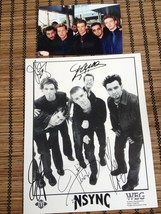 """Nsync Justin Timberlake 8X10"""" Poster Lythographed singnatures And 4""""X6""""P... - $29.21"""